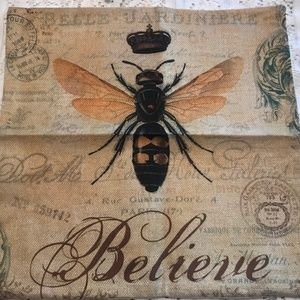Believe Bee Pillow Cover